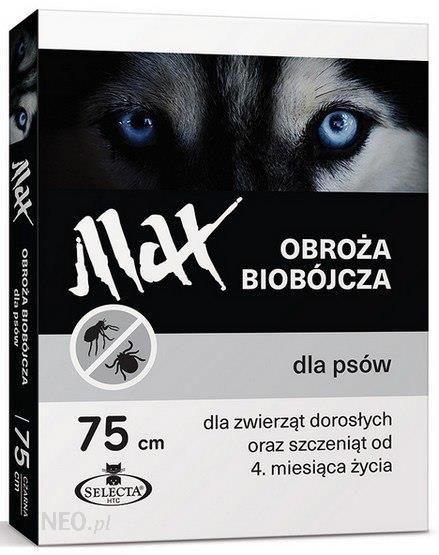 Selecta Htc Obroża Max Biobójcza Dla Psa Przeciw Pchłom I Kleszczom 75Cm Czarna Se 7123