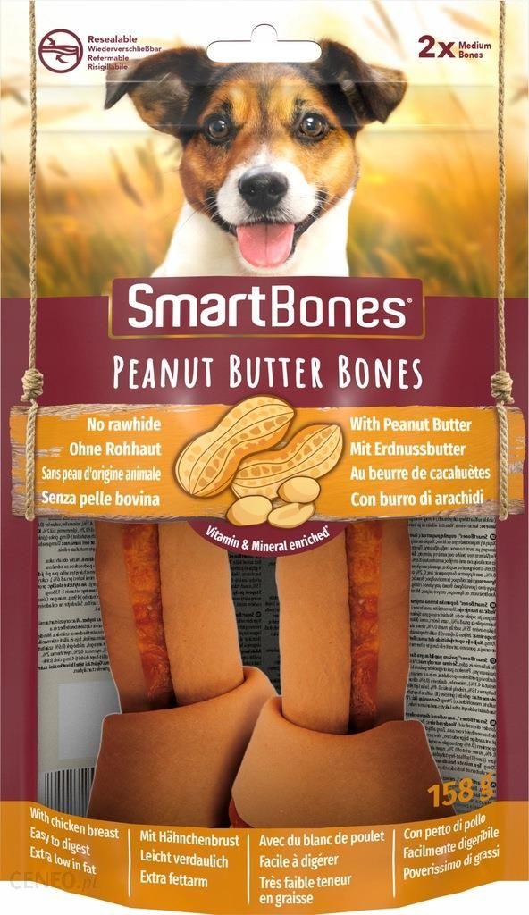 Smartbones Peanut Butter Medium Gryzak Dla Psów Ras Średnich Masło Orzechowe 2Szt