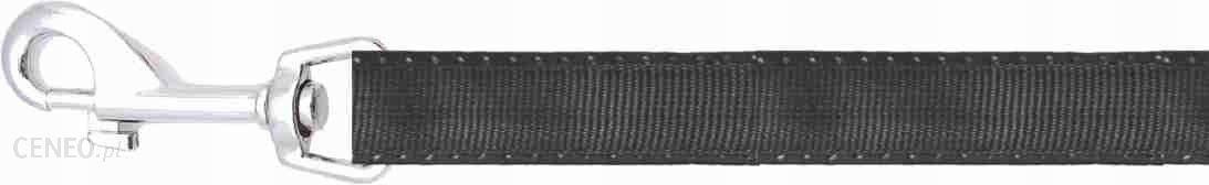 Smycz gładka Happet SI12 czarna 1.5cm