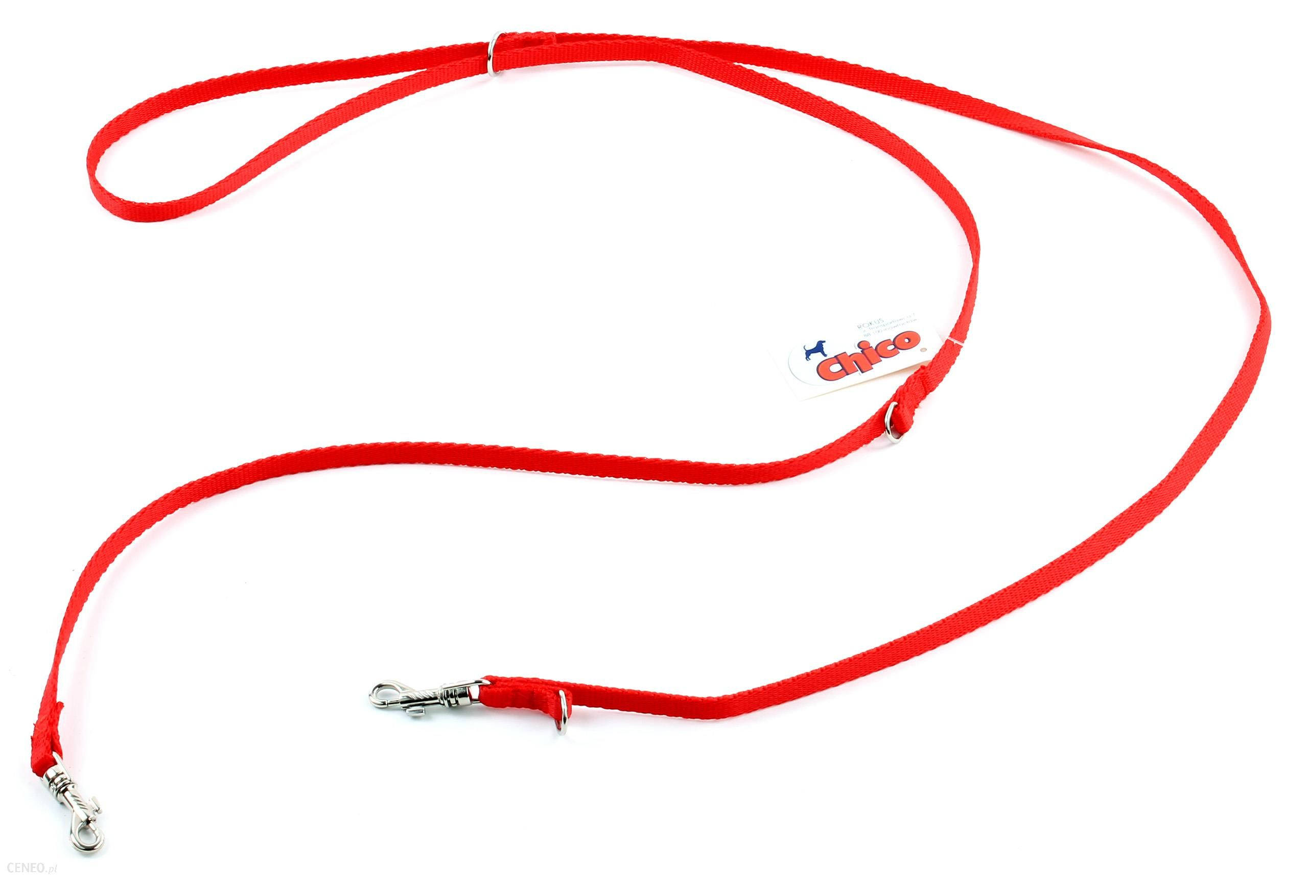 Smycz Taśma 20Mm Nylon Regulowana 115-190 Czerwona