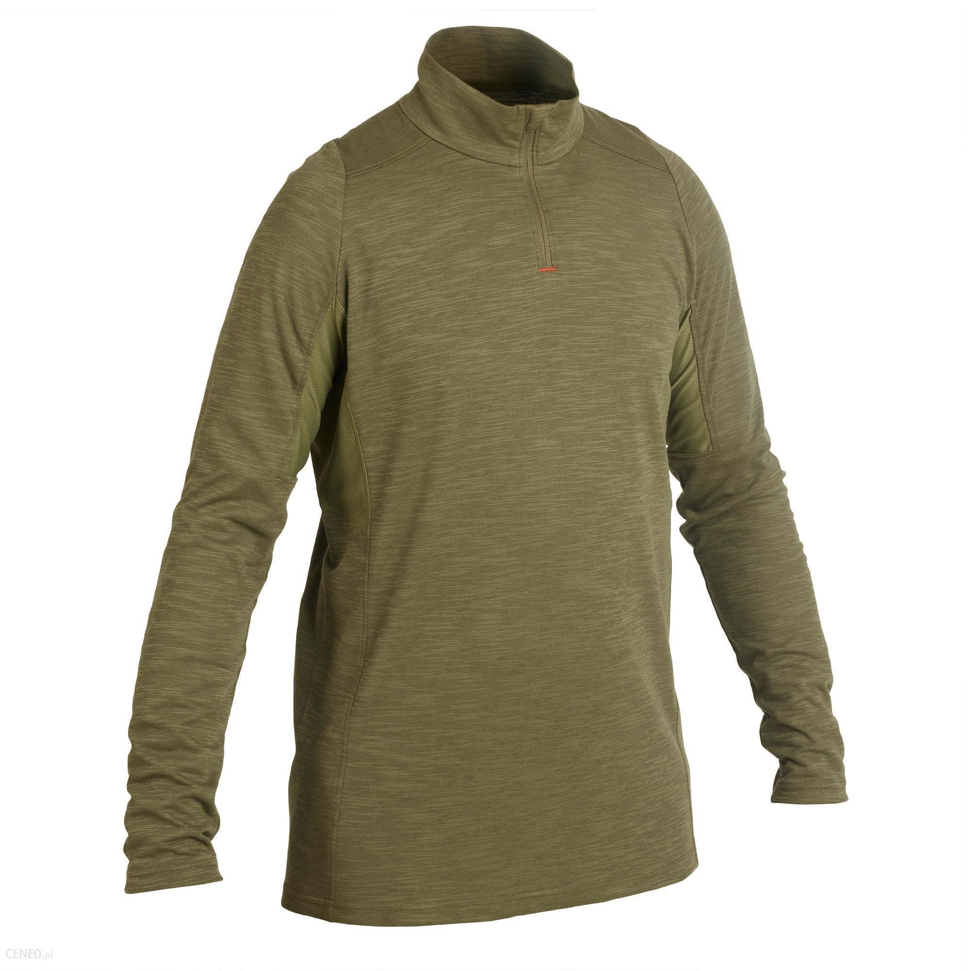 Solognac Koszulka Myśliwska Z Długim Rękawem Respi 500 Zielony Khaki Xl