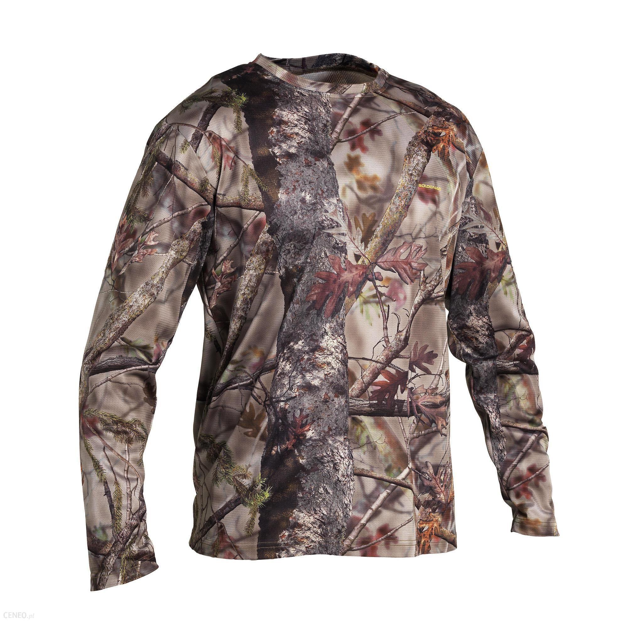 Solognac Koszulka Z Długim Rękawem Respi 100 Camo Brązowy Khaki 2Xl