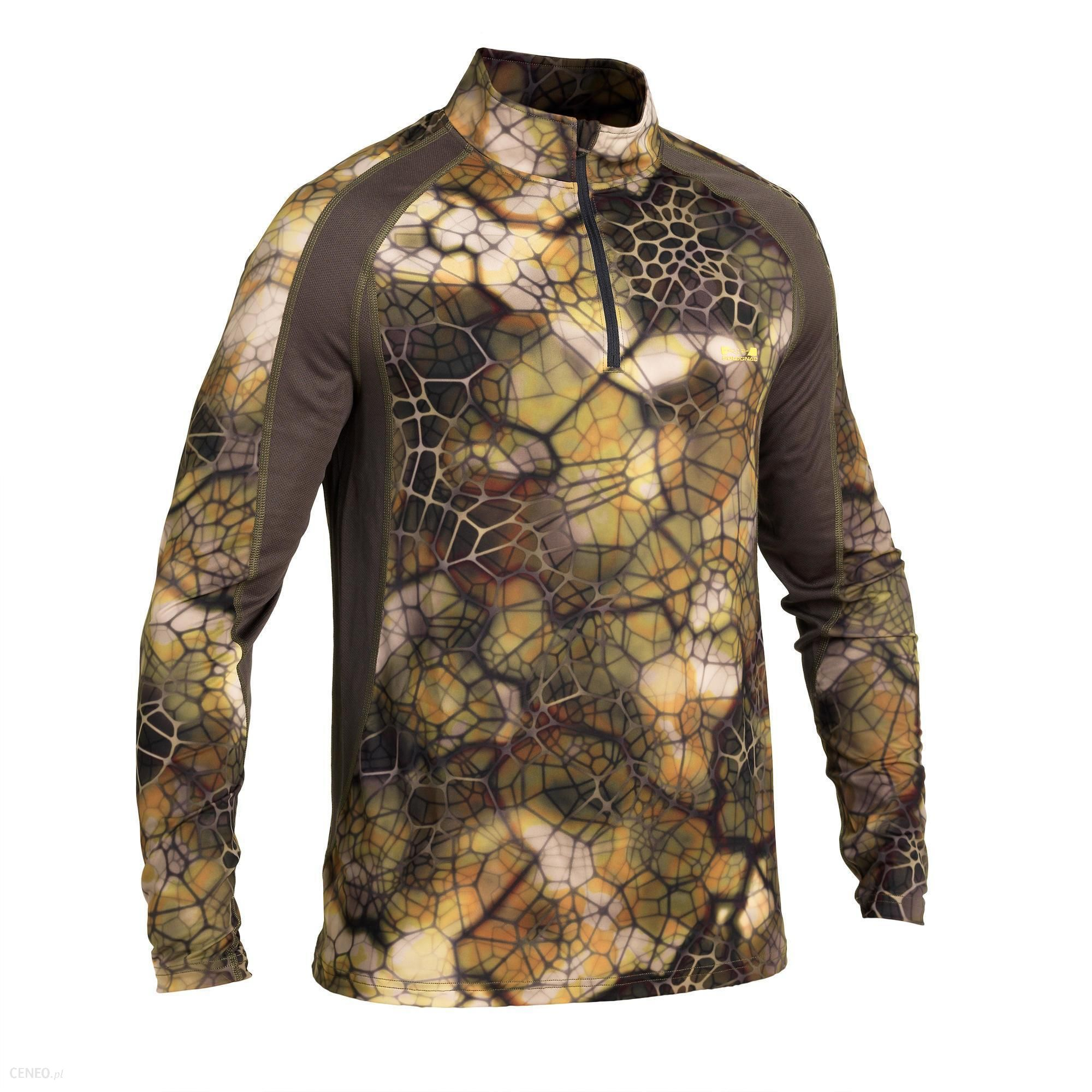 Solognac Koszulka Z Długim Rękawem Respi 500 Furtiv Brązowy Khaki Szary 2Xl