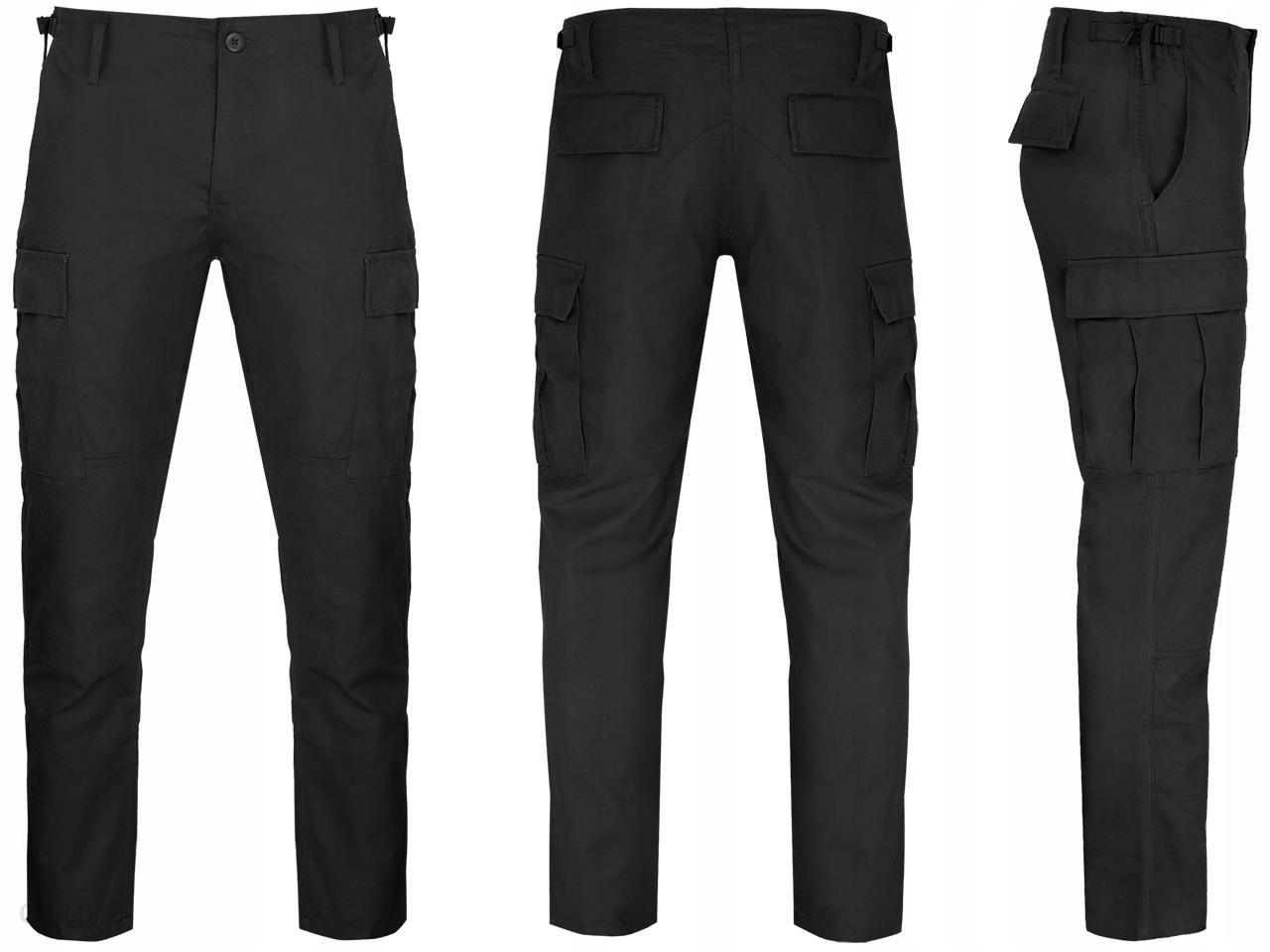Spodnie Wojskowe Bdu Slim Fit RipStop Czarne 3XL