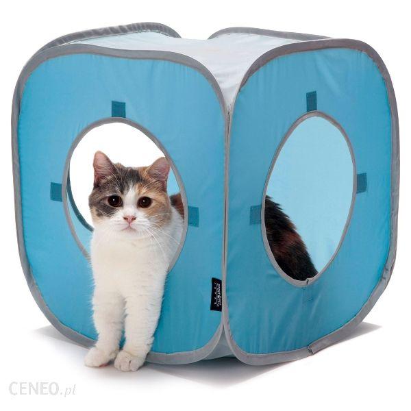 SPORTPET 38x38x38cm Domek niebieski dla kota