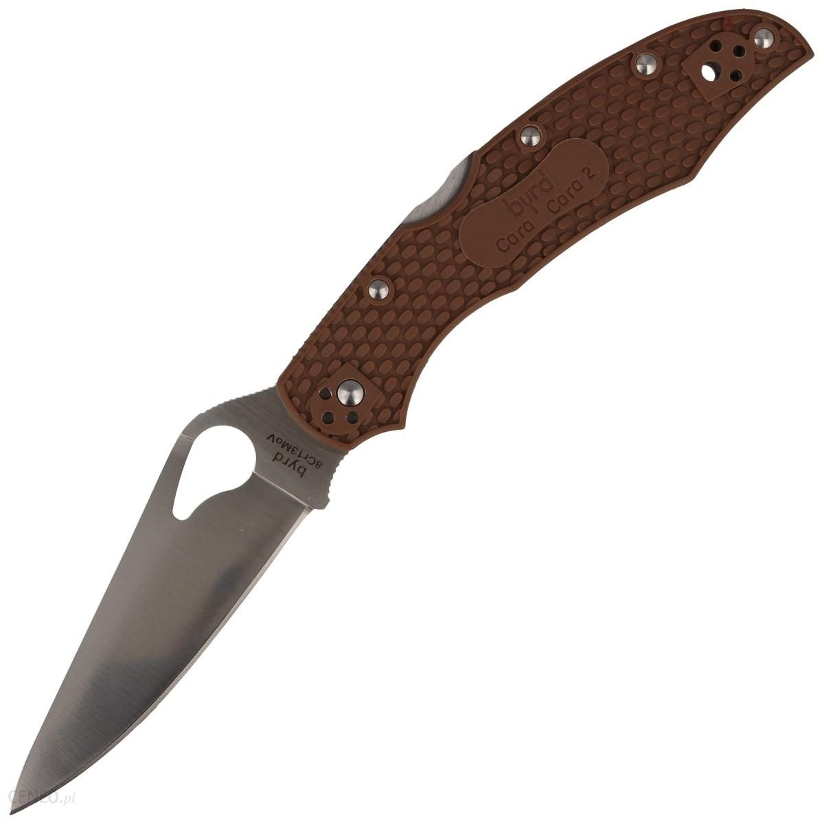 Spyderco Nóż Byrd Cara Cara 2 Brown Frn Plain (By03Pbn2)