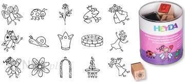 Stemple 15 + poduszka - Wróżki i księżniczki