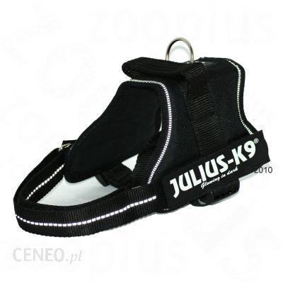 Szelki dla psa Julius-K9 Power Black - Rozmiar 1: obwód w piersiach 65 - 80 cm