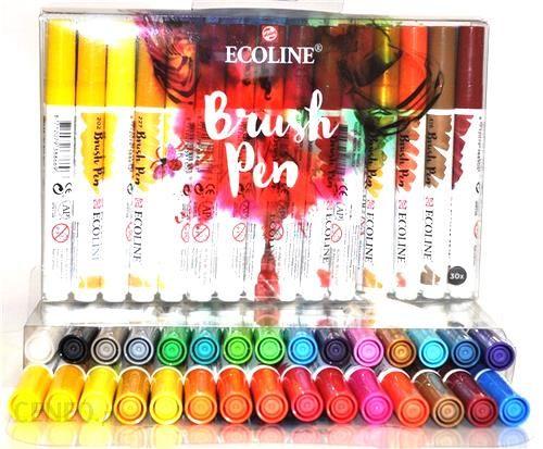 Talens Ecoline Brush Pen Markery 30kol