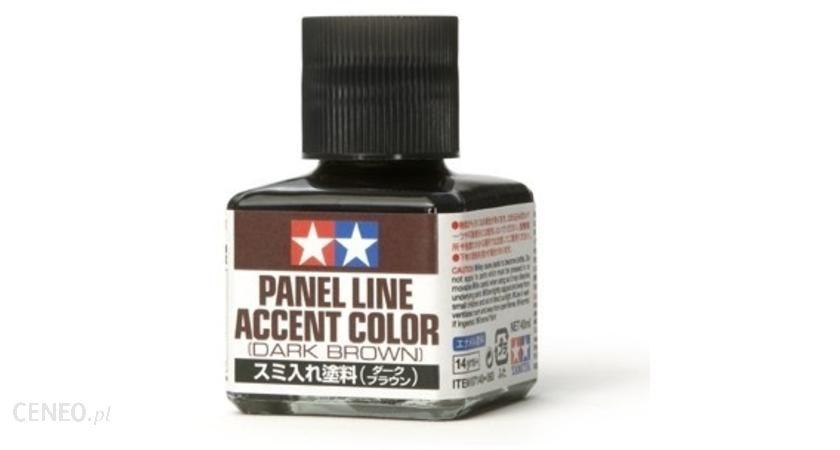 Tamiya Panel Line Accent Color Dark Brown / 40Ml Tamiya 87140