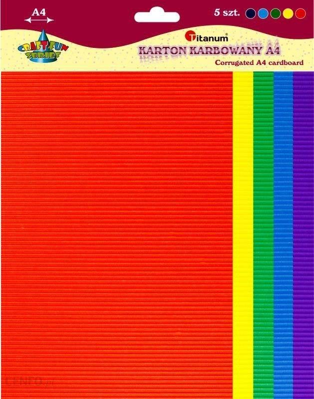 Titanum Karton Falisty Karbowany A4 Mix 5 Kolorów (363217)