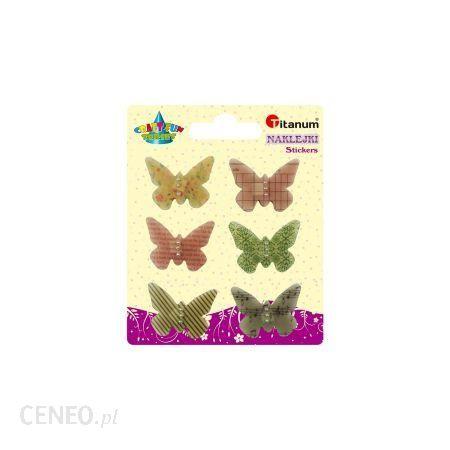 Titanum Naklejki Motyle 6Szt