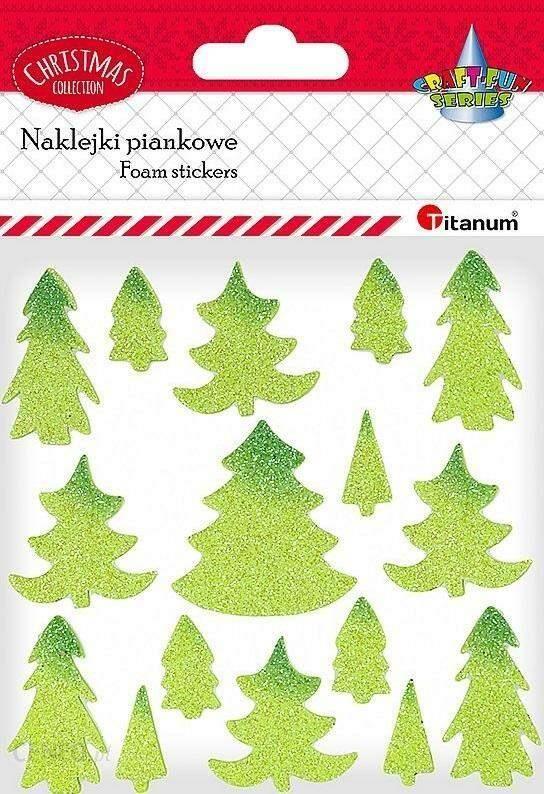 Titanum Naklejki Piankowe Brokatowe Choinki Mix