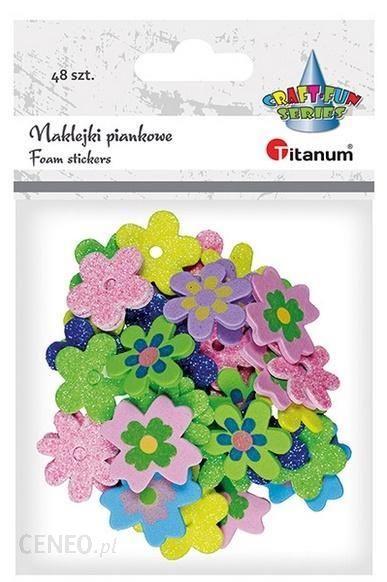 Titanum Naklejki Piankowe Kwiatki 27/28/30Mm Mix 48Szt