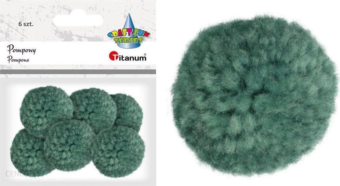 Titanum Pompony Dekoracyjne Ozdobne Z Włóczki 6szt Szmaragdowe