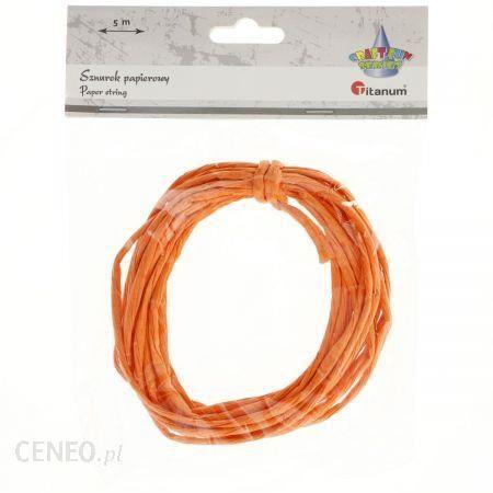 Titanum Sznurek Papierowy 5M Kolor Pomarańczowy