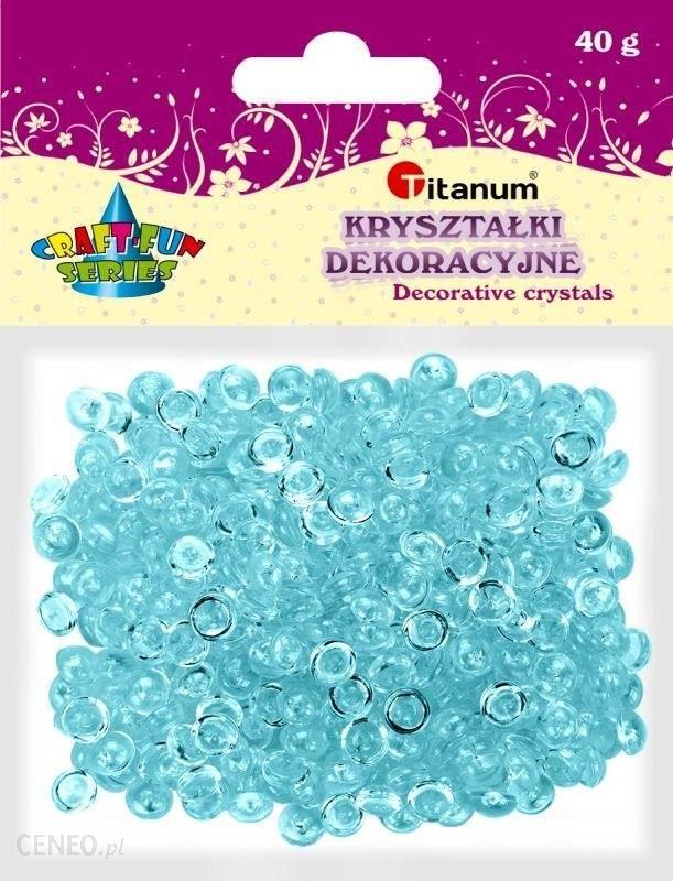 Titatnum Kreatywne Kryształki Dekoracyjne Titanum 40G Jasny Niebieski