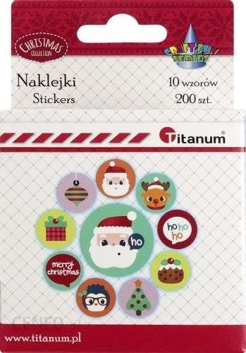 Titatnum Kreatywne Naklejki Świąteczne Titanum Na Taśmie 200Szt