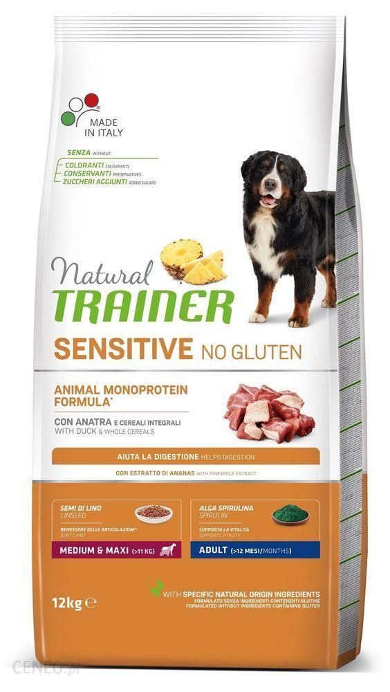 Trainer Natural Sensitive No Gluten Adult Medium Maxi Kaczka 12Kg
