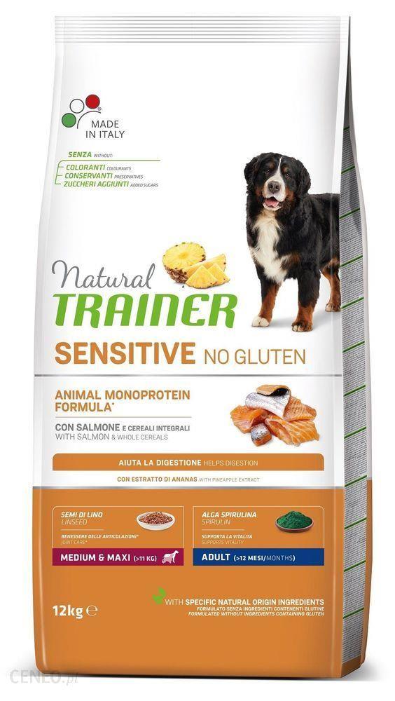 Trainer Natural Sensitive No Gluten Adult Medium Maxi Łosoś 12Kg