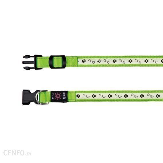 Trixie Obroża Z Lampą Na Usb L–Xl: 50–60 Cm25 Mm Zielona