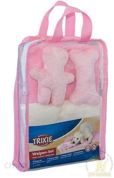 Trixie Zestaw ręcznik + kocyk + zabawki różowy (15587)