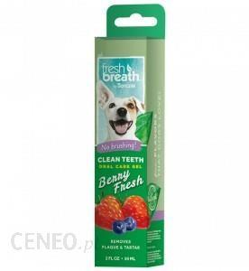 Tropclean Breath Clean Teeth Gel Berry Żel Do Higieny Jamy Ustnej Zapachu Jagód Truskawek 59Ml