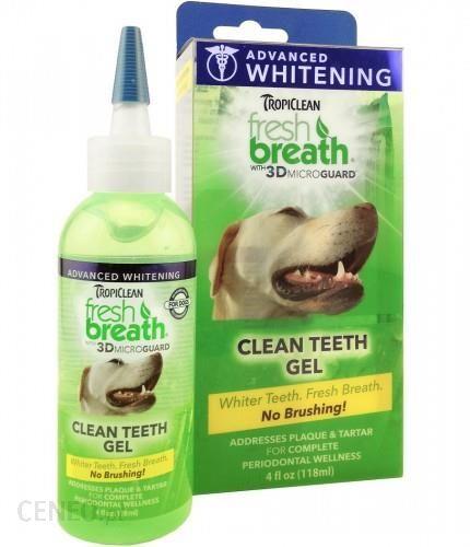 Tropiclean Advanced Whitening Gel 118Ml Żel Wybielający Do Pielęgnacji Zębów I Dziąseł Dla Psów I Kotów