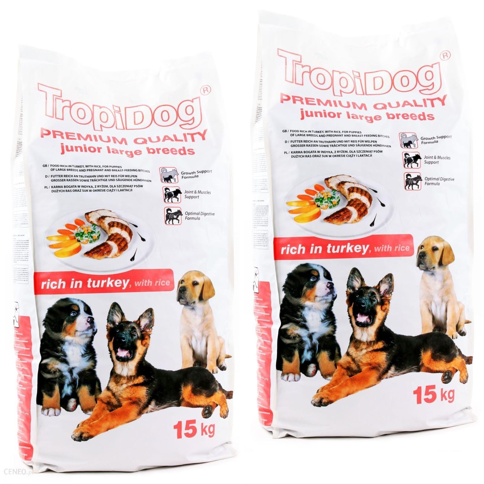 TropiDog Premium Junior L Turkey & Rice 2x15kg