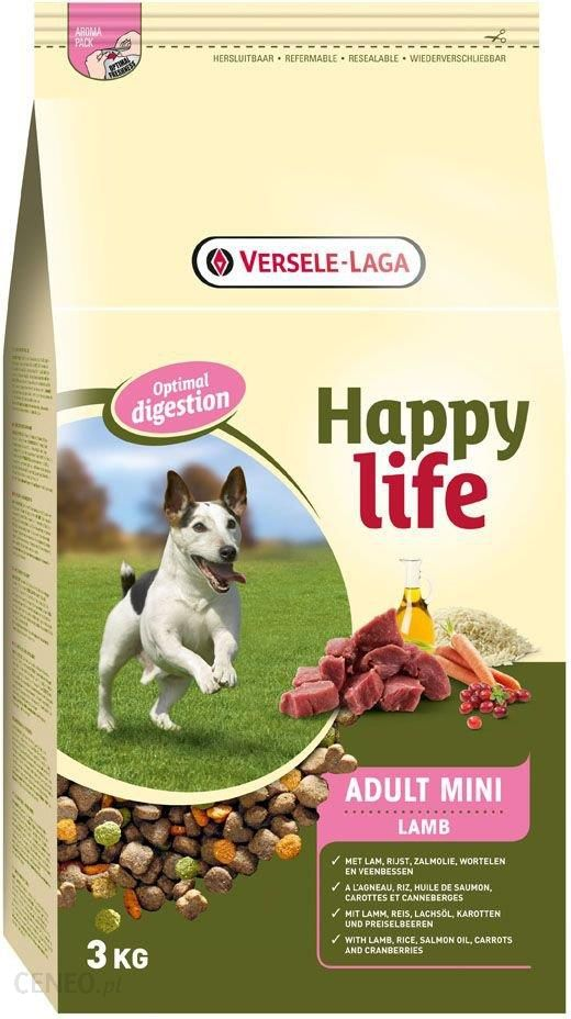 Versele Laga Happy Life Adult Mini Jagnięcina 3kg