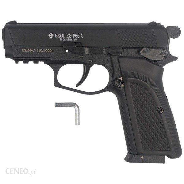 Voltran - Pistolet wiatrówka Ekol ES P66C Black Picatinny - 4.5 mm - Czarny