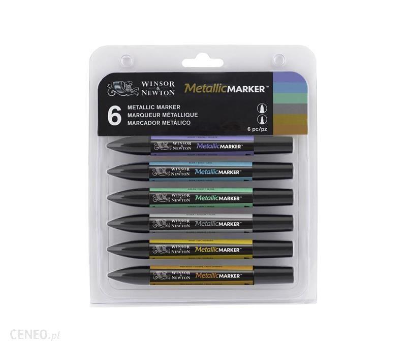 W&N MARKER METALLIC - Zestaw 6 markerów metalicznych