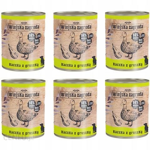 Wiejska Zagroda Kaczka z Gruszką 94% mięsa 6x800G