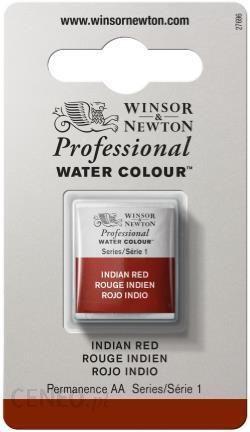 WINSOR & NEWTON Farba akwarelowa AWC INDIAN RED 1/2 kostki