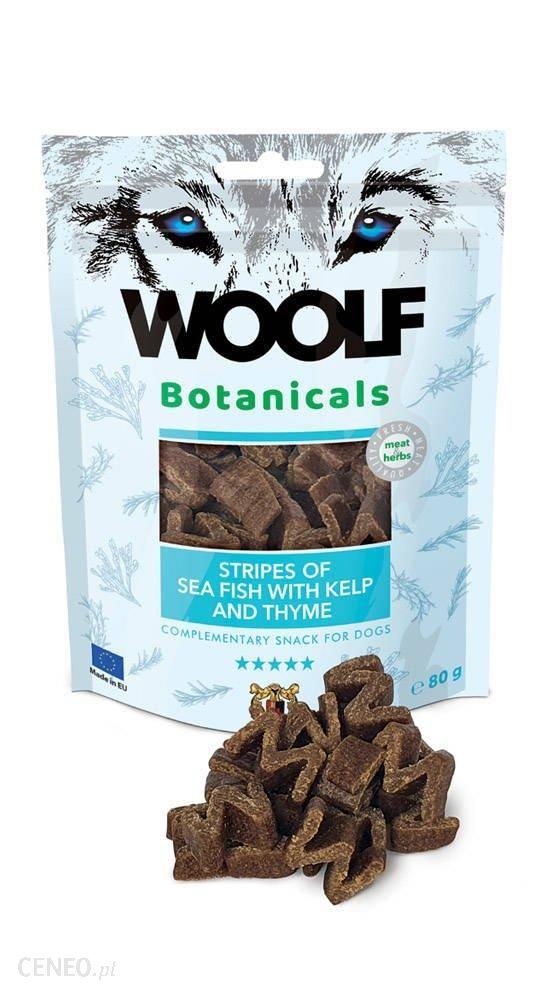 Woolf Botanicals Seafish Stripes with kelp and thyme Rybą Z Wodorostami I Tymiankiem 80G
