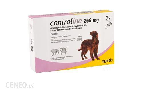 Zoetis Controline 268Mg 20-40Kg 3Szt