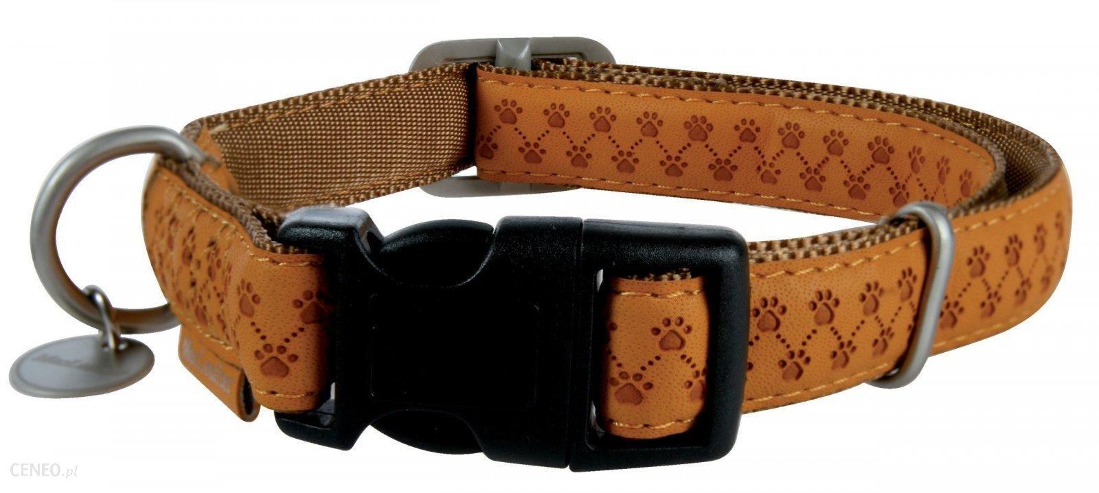 Zolux Mac Leather obroża 25mm karmel