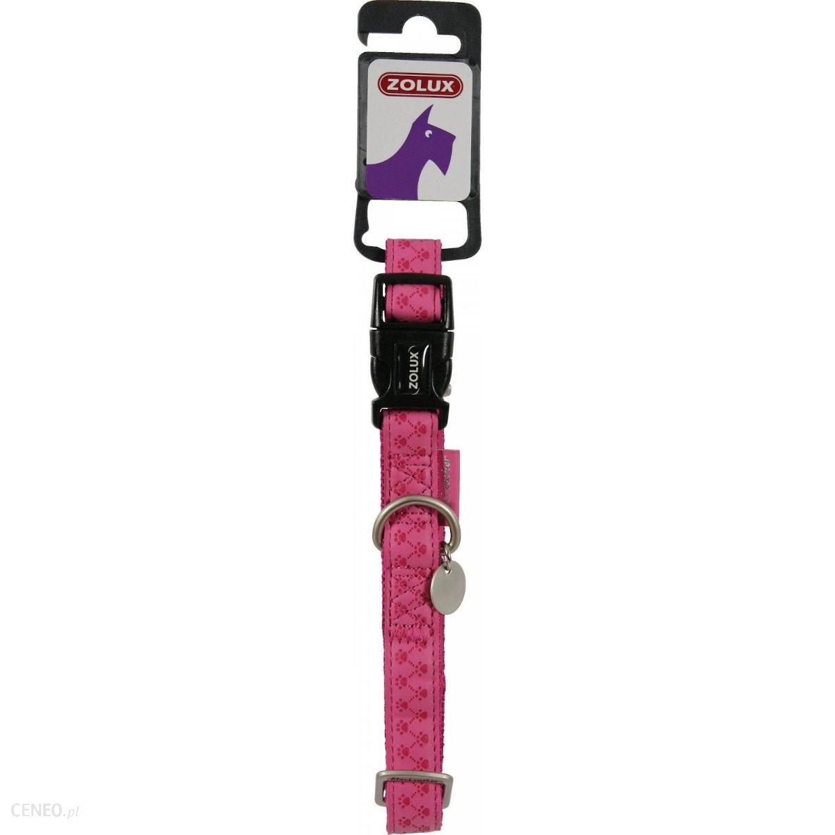 Zolux Obroża Dla Psa Mac Leather Różowa 33-47cm