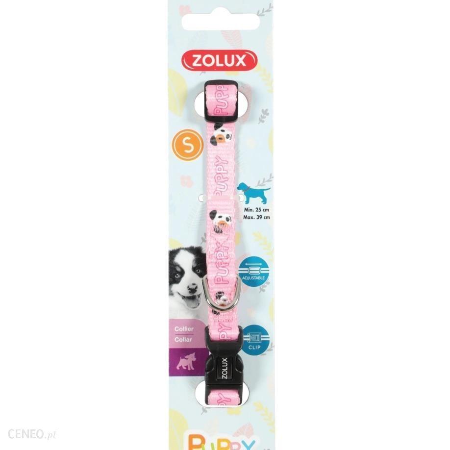 Zolux Obroża Puppy Mascotte 13mm Różowa