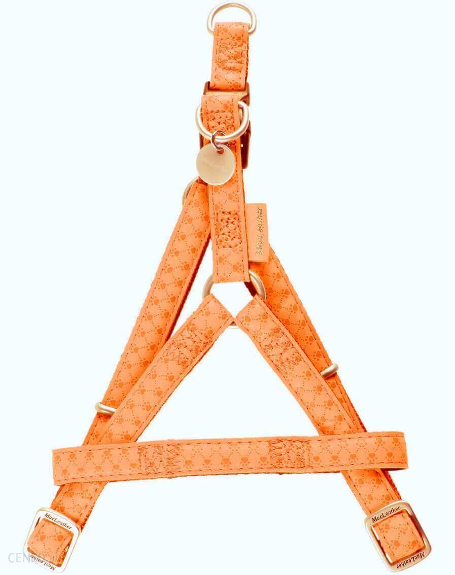 Zolux Szelki regulowane Mac Leather 15mm pomarańczowy
